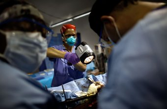 Orthopedic trauma surgeons are in especially high demand after natural disasters.