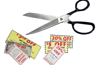 Coupons can be made at home on your computer.