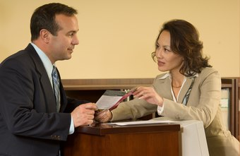 Hotel salespeople often hand out brochures about accommodations to prospects.