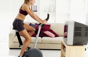 The harder you pedal, the more calories you'll burn on a stationary bicycle.