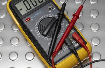 A multimeter measures electrical current and voltage.