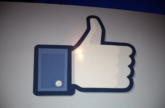 Facebook likes are symbolized by a thumbs-up.