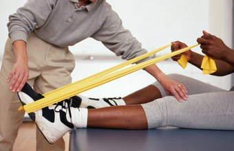 PTAs use speacial tools, such as exercise bands, to help patients restore movement.