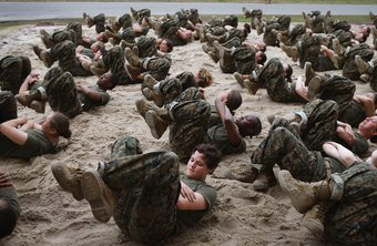 Body weight workouts are an important part of military physical fitness.