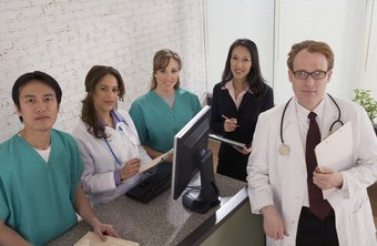 Higher-level healthcare administrators manage medical staff.