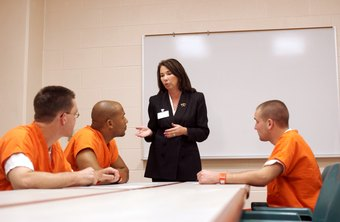 Jail social workers lead educational and psychosocial groups with inmates.