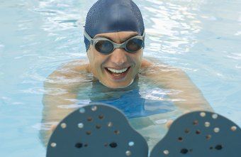 Hand paddles add muscle-toning resistance to your stroke.