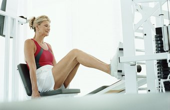 Leg presses work the major muscles in your lower body.