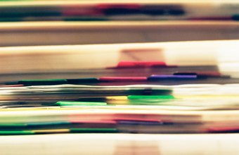 Create a color-coded filing system for your business records.