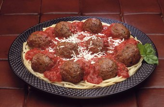 Pasta and meatballs is a staple menu item at spaghetti restaurants.