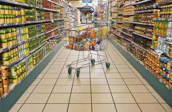 Food distributors deliver most of the products in a typical grocery store.