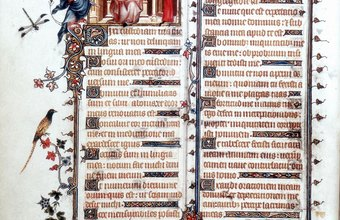 Forensic document examiners can tell whether an antique manuscript is authentic or a forgery.