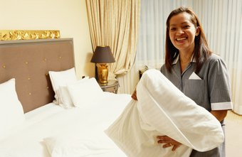 Starting pay for hotel room attendants is higher in New York and California.