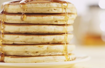 Pancakes with butter and syrup can be high in calories.