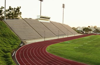 Walking around a track without a routine can be monotonous.