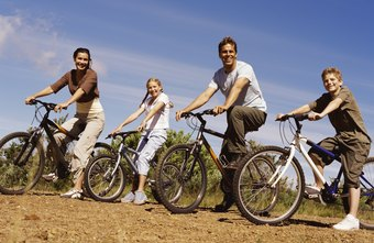 Ride bikes with the family to burn calories together.