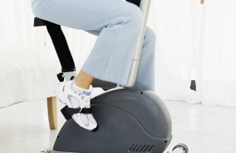 Positioning your feet properly and wearing the right shoes can reduce foot pain while riding an exercise bike.