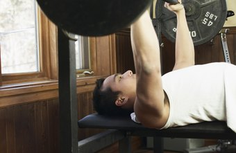 Barbell bench press for bigger pectorals.