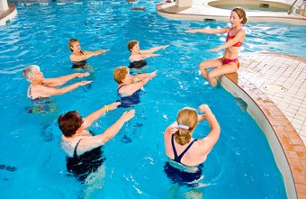 Water personal trainers teach water aerobics and other aquatic fitness classes.