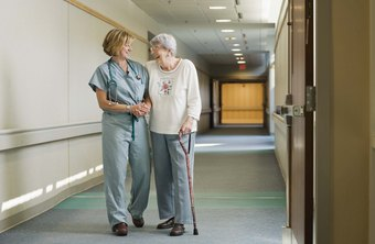 Registered nurses assist nursing home residents with basic tasks.