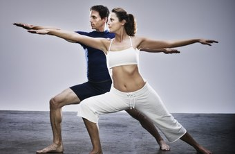 Warrior II pose strengthens leg muscles that support the knee.