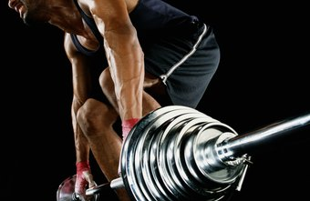 The bent-over barbell row exercise targets your back muscles.