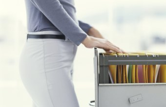 Maintain separate file cabinets for accounts receivable and payable.