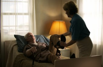 Home health-care aides provide care at home.