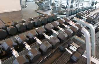Heavy dumbbells can help build muscle and burn calories.