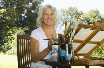 Recreational therapists may use arts and crafts to help clients.