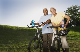 Going for a bike ride is a great way to stay in shape as an older adult.