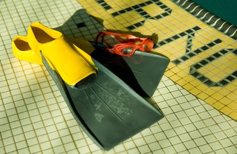Swim fins help beginners develop proper kicking technique.