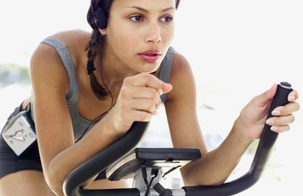 Choose biking, jogging, swimming, step aerobics, walking or elliptical workouts.
