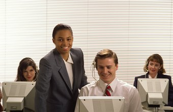 Call center managers lead and motivate a team of agents.