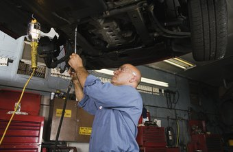 Employers provide diagnostic equipment, but mechanics have their own tools.