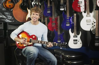 Successful guitar salesmen combine playing ability with sales skills.
