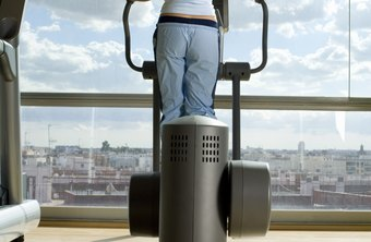 An elliptical with moving handles can burn calories effectively.