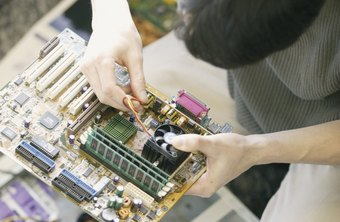 Computer technicians address hardware and software concerns.