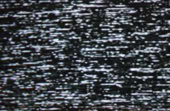 Digital snow, or white noise, often indicates lack of a television signal.