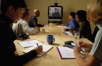 Video conferencing enables participants to join meetings from different locations.
