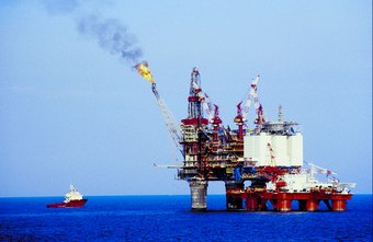 Like a ship, an offshore oil rig requires regular repainting.