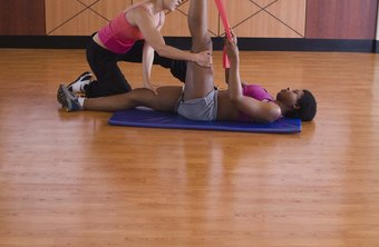 A partner can help you get a further stretch in your hamstrings.