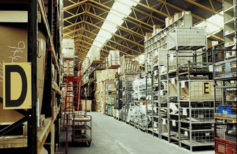 Inventory from raw materials to finished products can be kept in a warehouse.