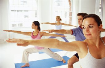 Yoga classes are one type of group exercise.