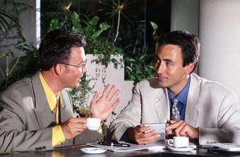 It's common to hold off on business talk until after the dinner, with coffee.