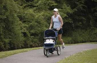 Jogging with your baby is an excellent way to get in shape after a C-section.