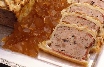 Traditional pates and terrines are among the garde manger's specialties.
