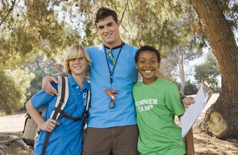 Camp counselor is a common outdoor job for a teen.
