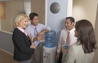 Replace water cooler chats with group chats for dispersed workgroups.
