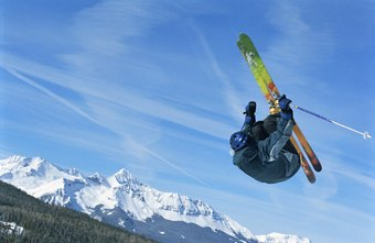 Freestyle and freeride skiing involve acrobatic skills.